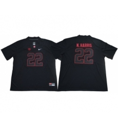 Crimson Tide #22 Najee Harris Blackout Limited Stitched NCAA Jersey