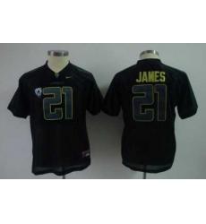 Youth Kids NCAA Oregon Ducks 21 LaMichael James black Jersey