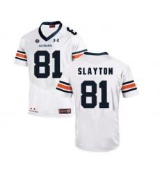 Auburn Tigers 81 Darius Slayton White College Football Jersey