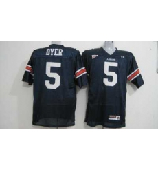 Tigers #5 Michael Dyer Blue Embroidered NCAA Jersey