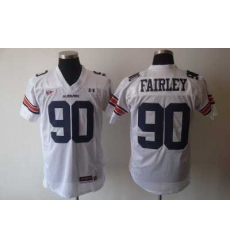 Tigers #90 Fairley White Embroidered NCAA Jersey