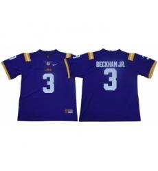 LSU Tigers 3 Odell Beckham Jr. Purple Nike College Football Jersey