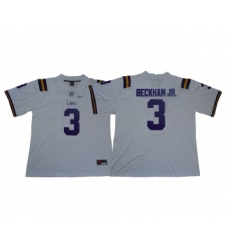 LSU Tigers 3 Odell Beckham Jr. White Nike College Football Jersey