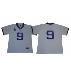 LSU Tigers #9 White 125 Sesons Nike College Football Jersey