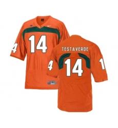 Miami Hurricanes 14 Vinny Testaverde Orange College Football Jersey