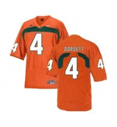 Miami Hurricanes 4 Phillip Dorsett Orange College Football Jersey