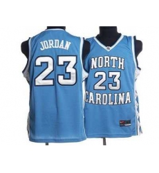North Carolina #23 Michael Jordan Blue Embroidered NCAA Jersey