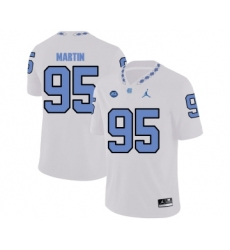 North Carolina Tar Heels 95 Kareem Martin White College Football Jersey