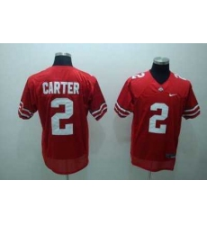 Buckeyes #2 Cris Carter Red Embroidered NCAA Jersey