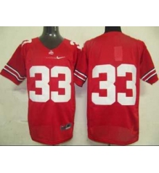 Buckeyes #33 Red Embroidered NCAA Jersey