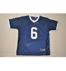 Nittany Lions #6 Navy Blue Embroidered NCAA Jersey