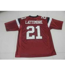 Fighting Gamecocks #21 Marcus Lattimore Red Embroidered NCAA Jersey