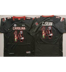 South Carolina Fighting Gamecocks #14 Connor Shaw Black Player Fashion Stitched NCAA Jersey