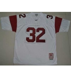 Trojans #32 O.J. Simpson White Embroidered NCAA Jersey