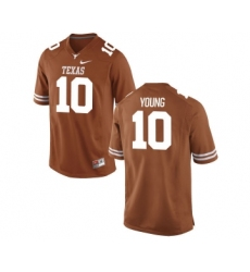 Texas Longhorns 10 Vince Young Orange Nike College Jersey