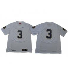 Fighting Irish #3 Joe Montana White Limited Stitched NCAA Jersey