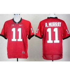 Georgia Bulldogs 11 Aaron Murray Red College Football NCAA Jerseys