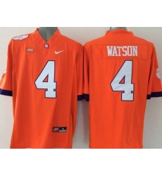 Clemson Tigers #4 Deshaun Watson Orange Limited Stitched NCAA Jersey