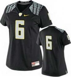 NEW Women Oregon Ducks Black #6 NCAA Jerseys
