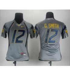 Women West Virginia Mountaineers 12 G.Smith Grey Jerseys