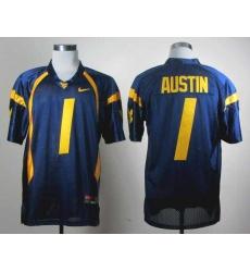 NCAA Nike West Virginia Mountaineers Tavon Austin 1 blue WVU jersey