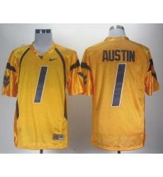 NCAA Nike West Virginia Mountaineers Tavon Austin 1 gold WVU jersey