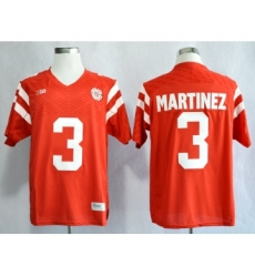 Nebraska Cornhuskers 3 Taylor Martinez Red College Football Jersey