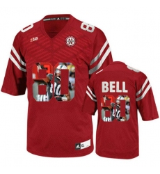 Nebraska Cornhuskers #80 Kenny Bell Red With Portrait Print College Football Jersey