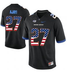 Boise State Broncos #27 Jay Ajayi Black USA Flag College Football Jersey