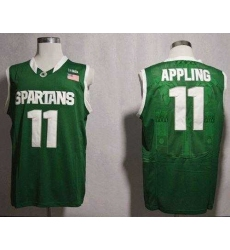 Michigan State Spartans #11 Keith Appling Green Basketball NCAA Jersey