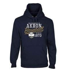 Akron Zips Navy Blue Ballpark Pullover Hoodie