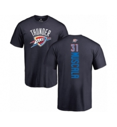 Basketball Oklahoma City Thunder #31 Mike Muscala Navy Blue Backer T-Shirt