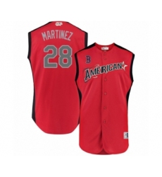 Youth Boston Red Sox #28 J. D. Martinez Authentic Red American League 2019 Baseball All-Star Jersey