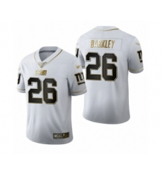 Men's New York Giants #26 Saquon Barkley Limited White Golden Edition Football Jersey