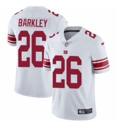 Men's Nike New York Giants #26 Saquon Barkley White Vapor Untouchable Limited Player NFL Jersey