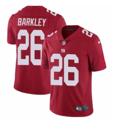 Youth Nike New York Giants #26 Saquon Barkley Red Alternate Vapor Untouchable Limited Player NFL Jersey