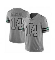 Men's New York Jets #14 Sam Darnold Limited Gray Team Logo Gridiron Football Jersey