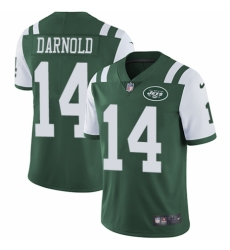 Youth Nike New York Jets #14 Sam Darnold Green Team Color Vapor Untouchable Limited Player NFL Jersey