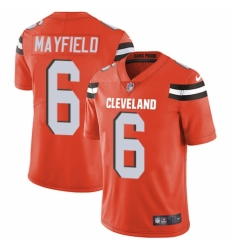 Men's Nike Cleveland Browns #6 Baker Mayfield Orange Alternate Vapor Untouchable Limited Player NFL Jersey