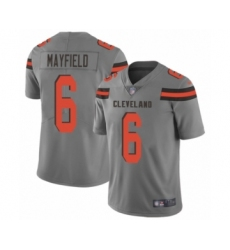 Women's Cleveland Browns #6 Baker Mayfield Limited Gray Inverted Legend Football Jersey