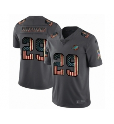 Men's Miami Dolphins #29 Minkah Fitzpatrick Limited Black USA Flag 2019 Salute To Service Football Jersey