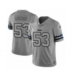 Men's Indianapolis Colts #53 Darius Leonard Limited Gray Team Logo Gridiron Football Jersey