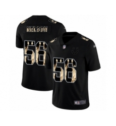 Men's Indianapolis Colts #56 Quenton Nelson Limited Black Statue of Liberty Football Jersey