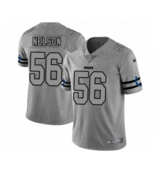 Men's Indianapolis Colts #56 Quenton Nelson Limited Gray Team Logo Gridiron Football Jersey