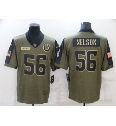 Men's Indianapolis Colts #56 Quenton Nelson Nike Olive 2021 Salute To Service Limited Player Jersey