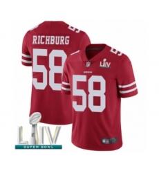 Men's San Francisco 49ers #58 Weston Richburg Red Team Color Vapor Untouchable Limited Player Super Bowl LIV Bound Football Jersey