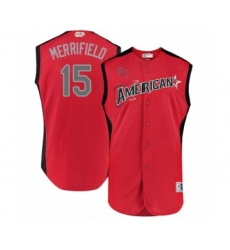 Men's Kansas City Royals #15 Whit Merrifield Authentic Red American League 2019 Baseball All-Star Jersey