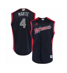Youth Arizona Diamondbacks #4 Ketel Marte Authentic Navy Blue National League 2019 Baseball All-Star Jersey