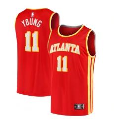 Men's Atlanta Hawks #11 Trae Young Fanatics Branded Red 2020-21 Fast Break Player Jersey
