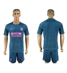 Atletico Madrid Blank Sec Away Soccer Club Jerseys